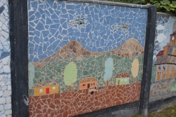 Mosaic depicting Uruguay Plane Crash